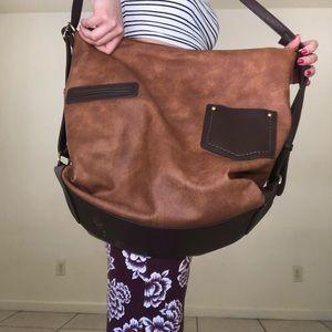 Handbags - Boho Vegan Leather Oversized Purse